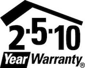 2-5-10 Year Warranty Logo